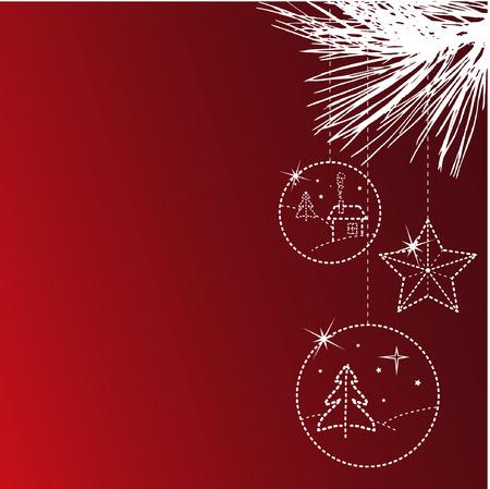 Weihnachts-Karte mit copyspace Standard-Bild - 3834463
