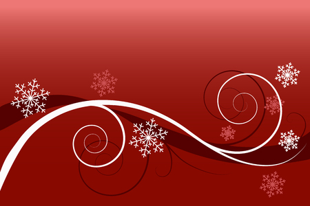 Winter floral background (greeting card) Vector