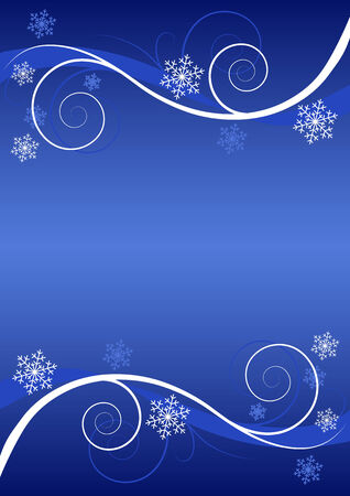 Winter floral background (greeting card) Stock Vector - 3834467