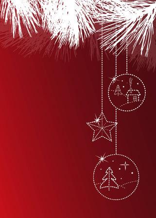 Weihnachts-Grußkarte mit copyspace Standard-Bild - 3886055