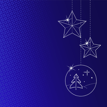 Weihnachts-Grußkarte mit copyspace Standard-Bild - 3886050