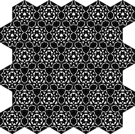 iterative: Seamless black vector background from iterative tiles