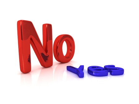 yes or no: Choice series: No with yes laying near it