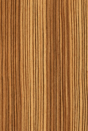 Texture of zebrano (high-detailed wood texture series) Stock Photo