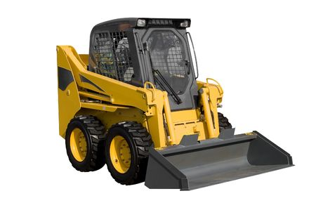 New yellow minitractor isolated on pure white Stock Photo - 4713286