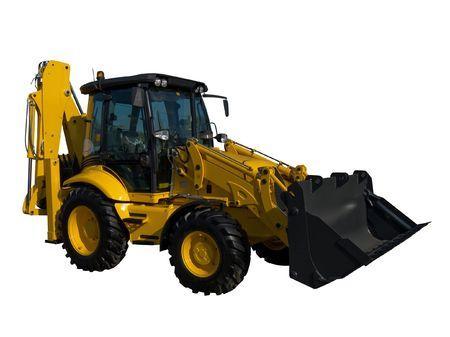 Neue gelbe Zugmaschine isoliert auf reines Weiß Standard-Bild - 4713346