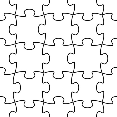 random pattern: Seamless vector shape of puzzle game in random order Illustration
