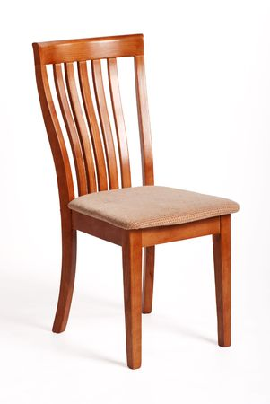 Silla de madera agradable aislado en blanco con sombra  Foto de archivo - 5758606