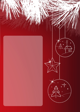 Christmas greeting card with copyspace Vector