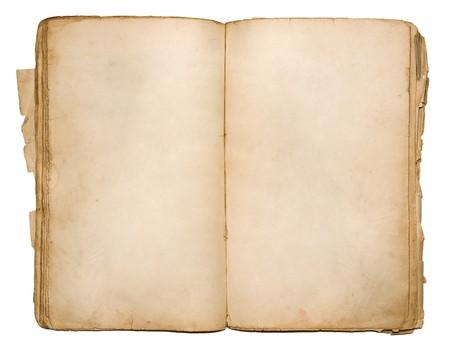 Ein altes Buch mit gelb gefärbten Leerseiten Standard-Bild - 8117690