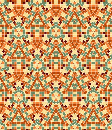 Nahtlose bunter ornamentaler Hintergrund gemacht von Mosaik Standard-Bild - 8687708