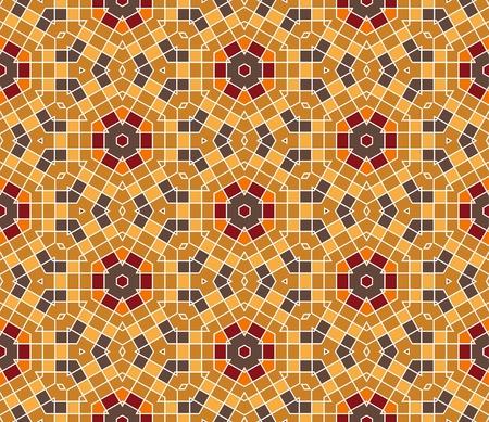 Nahtlose bunter ornamentaler Hintergrund gemacht von Mosaik Standard-Bild - 8687707
