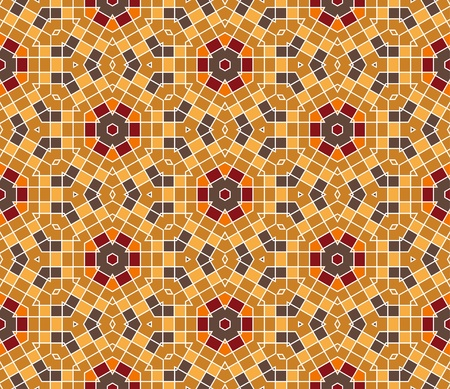 kitchen tile: seamless colourful ornamental background made of mosaic Illustration