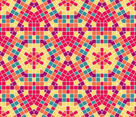 bad fliesen: nahtlose bunter ornamentaler Hintergrund gemacht von Mosaik Illustration