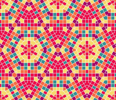 seamless colourful ornamental background made of mosaic Stock Vector - 8687702