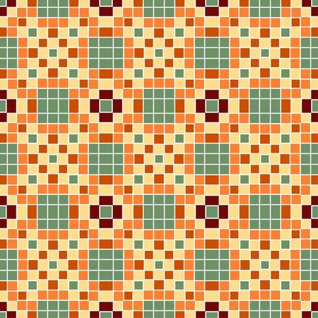 Nahtlose bunter ornamentaler Hintergrund gemacht von Mosaik Standard-Bild - 8687701