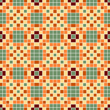 seamless colourful ornamental background made of mosaic Vector