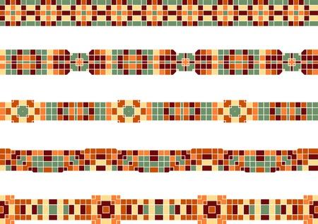 bad fliesen: nahtlose bunten ornamentalen Streifen des Mosaik gemacht