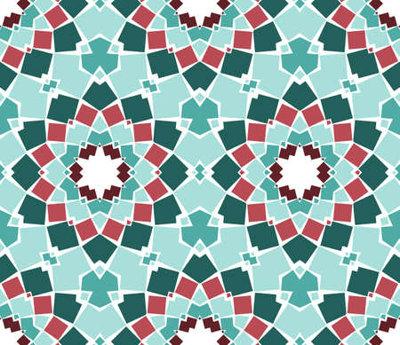 seamless colourful ornamental background made of mosaic Stock Vector - 8779088