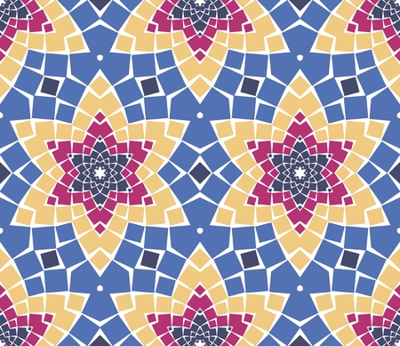 seamless colourful ornamental background made of mosaic Stock Vector - 8779093