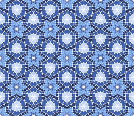 kaleidoscope: seamless colourful ornamental background made of mosaic Illustration