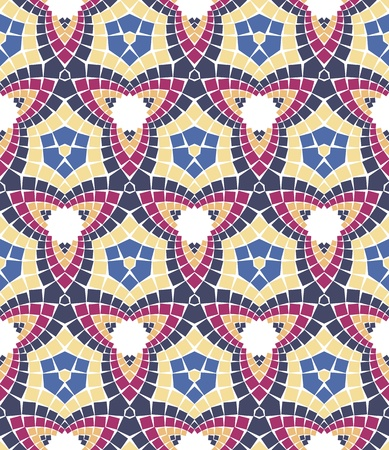 seamless colourful ornamental background made of mosaic Stock Vector - 8779097