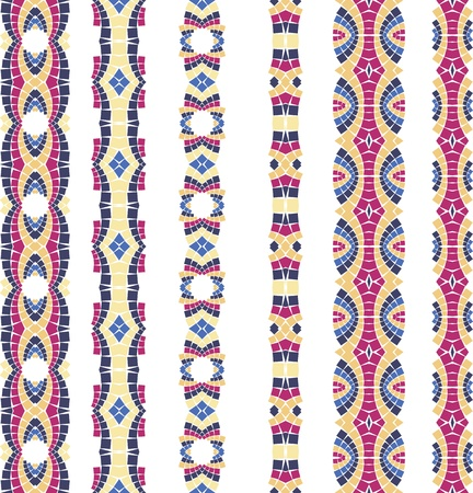 tiled: seamless colourful ornamental background made of mosaic Illustration