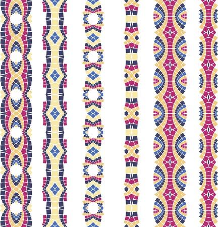 naadloze kleurrijke sier achtergrond gemaakt van mozaïek
