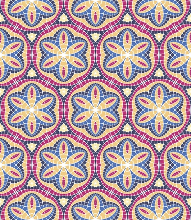seamless colourful ornamental background made of mosaic Illustration