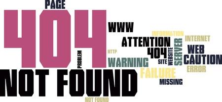 Site not found (error 404) - background Vector
