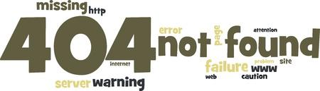 Site not found (error 404) - background