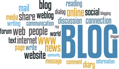 blog design: BLOG wordcloud background