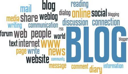 BLOG Wordcloud Hintergrund  Standard-Bild - 8779117