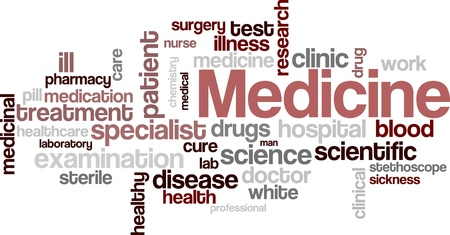 Fondo de nube palabra médica