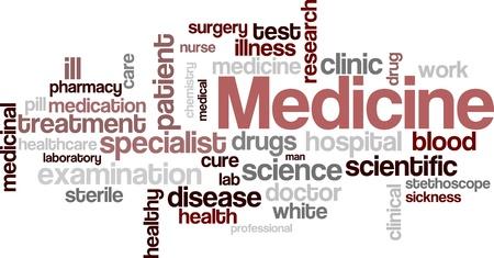 Medische word cloud achtergrond