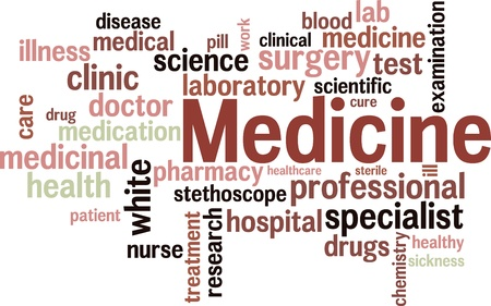 Medical word cloud background