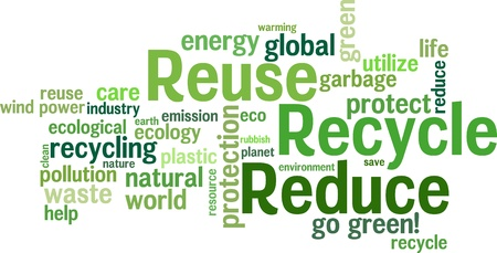 Wiederverwenden, reduzieren, Recycling Standard-Bild - 8779122