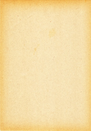 aged paper: Old grungy brown paper with darker edges Stock Photo
