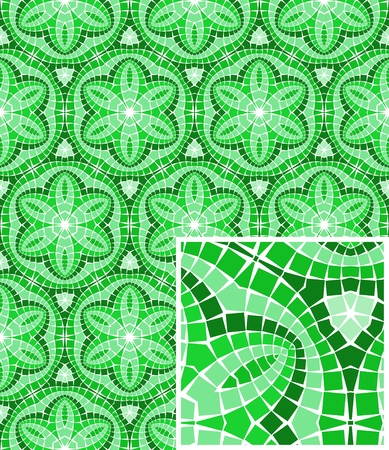 mosaic floor: seamless colourful ornamental background made of mosaic Illustration
