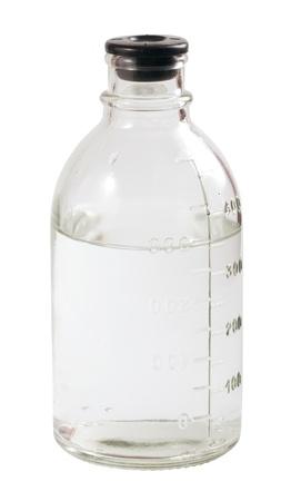 Medizinische Flasche mit Skala isoliert auf weiss Standard-Bild - 9410182