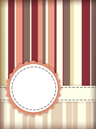 Vector template for scrapbooking greeting card. EPS10 Vector