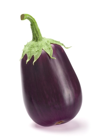 Fresh aubergine isolated on white background with shadow Standard-Bild