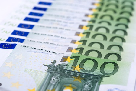 Euro money background, 100 euro banknote