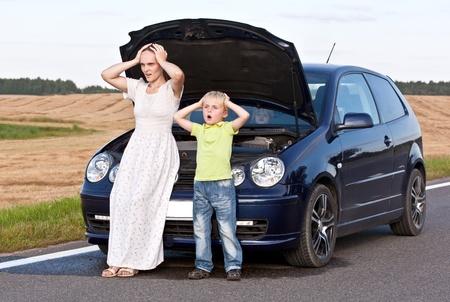 in trouble: Accidente en una carretera