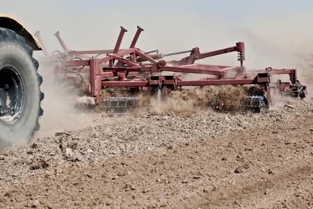 Harrowing a field