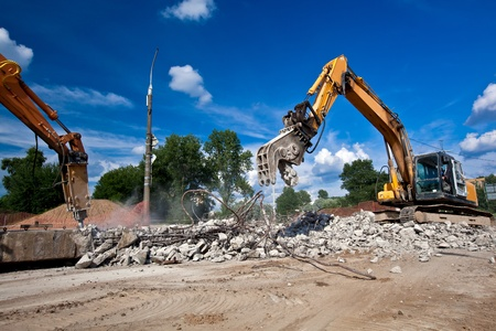 demolishing: Site Demolition