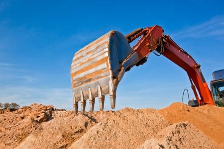 sand quarry: Backhoe at a Sand Quarry