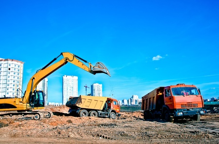 Construction equipment at work Stock Photo - 11307666