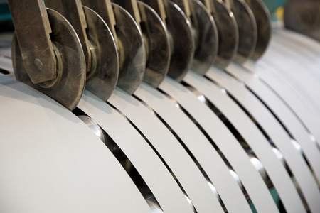 Cutting transformer steel tapes