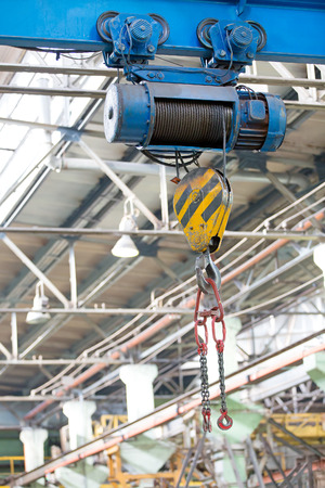 Factory workshop overhead crane for lifting and moving heavy cargo